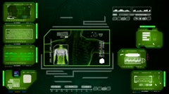 Stock Video Footage of Digestion  - Advanced Scanning Interface - green 01