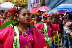 Stock Photo of Fuschia Street Cultural Dancers