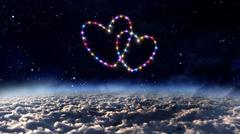 Stock Illustration of outer space with heart star