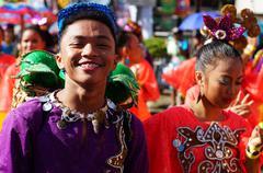 Pink Street Cultural Dancers Stock Photos