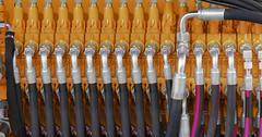 Hydraulic Hoses Stock Photos
