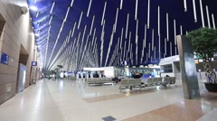 Interior view of Shanghai Pudong International Airport Stock Footage