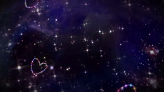 hearts color star space - stock footage