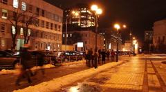 Kyiv  crossroad timelapse night Stock Footage