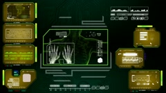 Hands  - Advanced Scanning Interface - yellow 01 Stock Footage