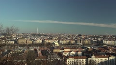 Panorama Of Prague, Czech Republic, On A Sunny Day Stock Video Footage Stock Footage