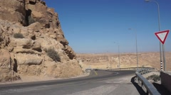 Road number 40 Ramon Crater Stock Footage