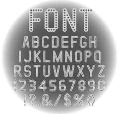 Vector font. - stock illustration