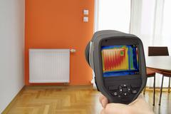 Radiator Thermal Image - stock photo