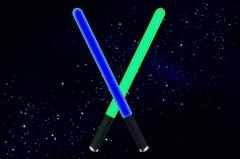 Lightsaber in space Piirros