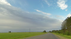Clouds over the road. The path from Elabuga Stock Footage