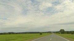 Clouds over the road. The path from Ocher Perm Krai, Russia, Full HD Stock Footage