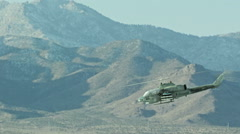 Helicopter low level flight - stock footage