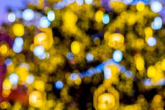 Christmas tree, lights, colors and abstraction background - stock photo