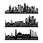 Set of skyscraper sketches. City design Stock Illustration