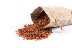 Heap of red rice Stock Photos