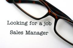 Looking for a job sales manager Stock Photos