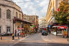 Divan Yolu street a popular tourists area Stock Photos
