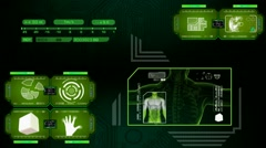 Stock Video Footage of Digestion - high tech analysis - green 01