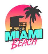 Miami Beach Stock Illustration