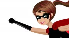 woman superhero flying animation - stock footage