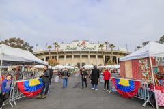 Pasadena, California, USA - January 10, 2016: The famous flea market at Rose  Stock Photos