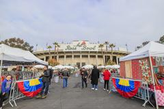 Pasadena, California, USA - January 10, 2016: The famous flea market at Rose  - stock photo