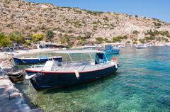 Agios Nikolaos port on Zakynthos - stock photo