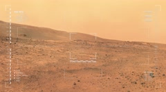 Mars rover camera zoom shot of moderate dust storm  at Tuskegee Crater.   Stock Footage