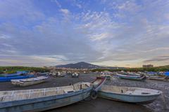 Boat, wetland at Bali Stock Photos