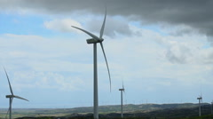 Timelapse of wind turbine propellers rotating, innovation for energy generation - stock footage