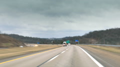 Timelapse POV Driving on Highway - stock footage