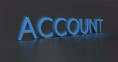 Account Word - stock footage