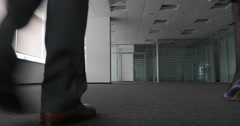 New company occupy empty office space Stock Footage