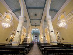 The beauty of St. Dominic's Church, Macau - stock photo