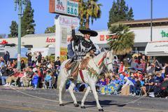 Rose Parade at Pasadena, California, USA - January 1, 2016 - stock photo