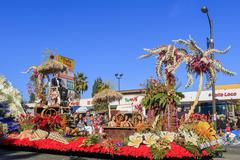 Stock Photo of Rose Parade at Pasadena, California, USA - January 1, 2016