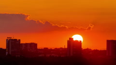 Sunset over the city Stock Footage