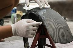 Wrapping carbon fiber or kevlar Stock Photos