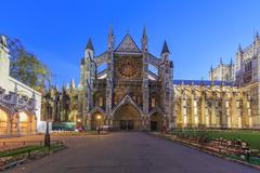 Traveling in the famous Westminster Abbey, London, United Kingdom Stock Photos