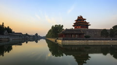 China Beijing, the Palace Museum (Forbidden City), Time-lapse. Stock Footage