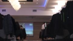 Restaurant  waiter, banquet Stock Footage