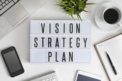 Vision, strategy and plan Stock Photos