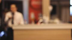 Restaurant  waiter blur Stock Footage