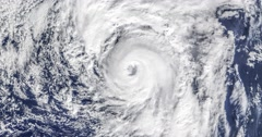 View from orbit of Hurricane Alex, an unusual early winter Hurricane in 2016. Stock Footage