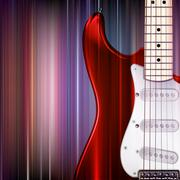 abstract grunge background with electric guitar - stock illustration