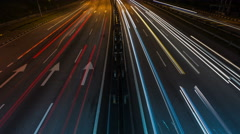 Time lapse of light trail traffic on a freeway/highway/motorway. Stock Footage
