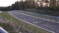 Nurburgring Pan Across Race Track Stock Footage