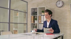Morning of Business Lady Stock Footage