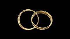 Wedding rings alpha channel Stock Footage